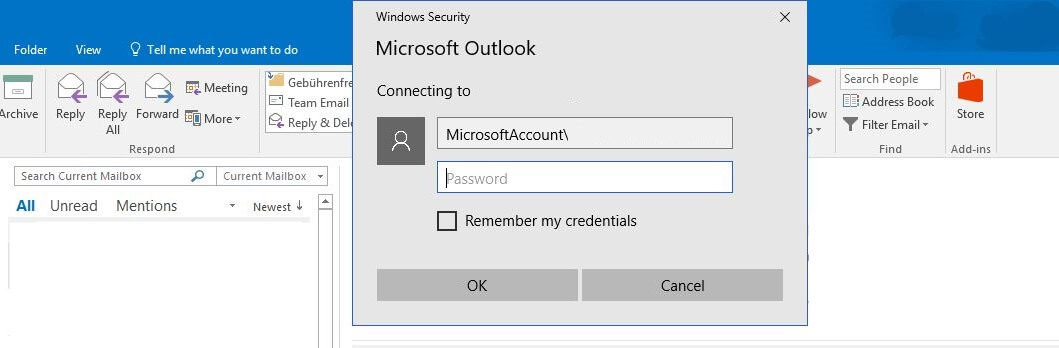 Outlook App Password