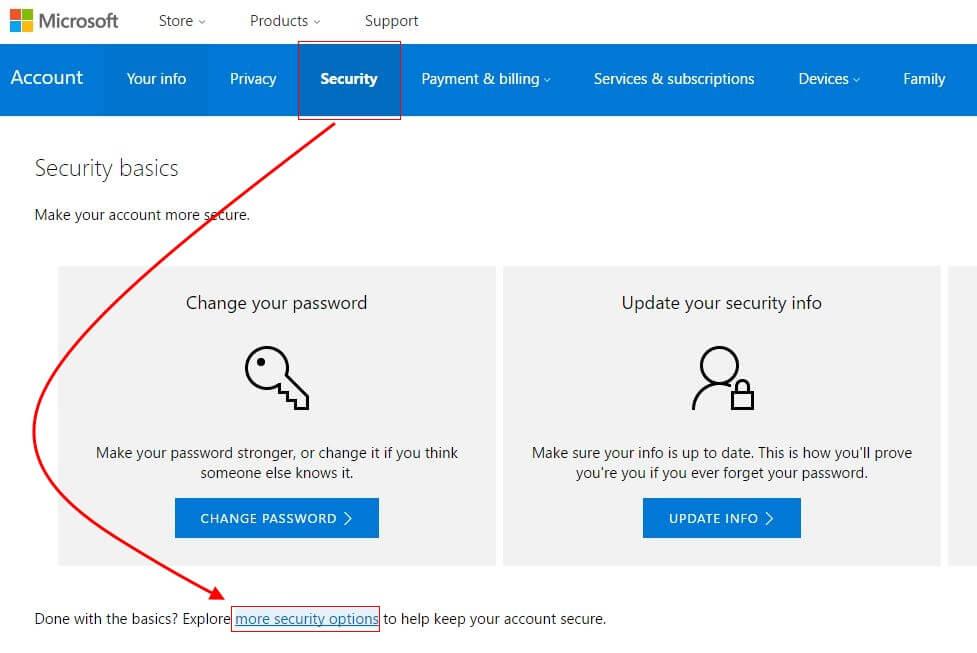 microsoft account security