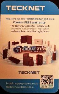 TeckNet Classic 2.4G USB Cordless Optical Mouse warranty