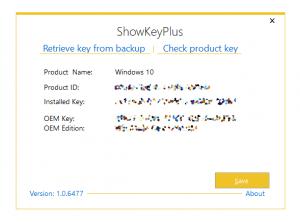 get Windows license key