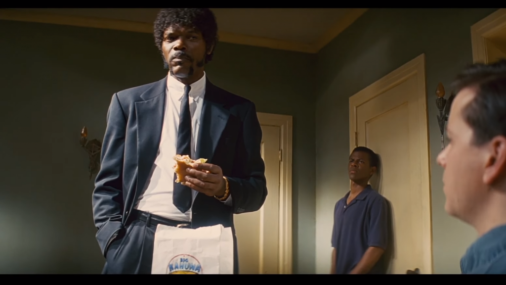 pulp fiction - burger scene